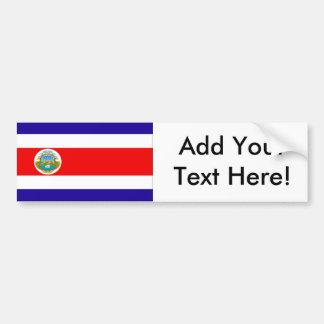 Flag of Costa Rica Bumper Sticker