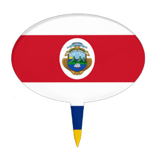 Flag of Costa Rica Cake Toppers