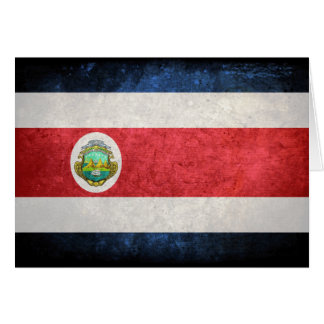 Flag of Costa Rica Stationery Note Card