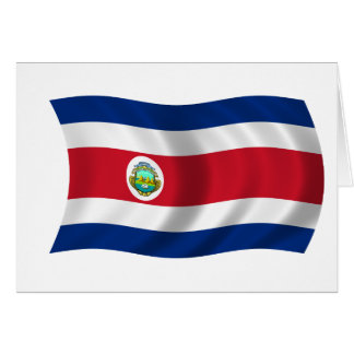 Flag of Costa Rica Greeting Cards