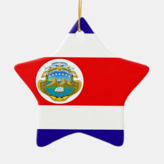 Flag of Costa Rica Ceramic Star Decoration