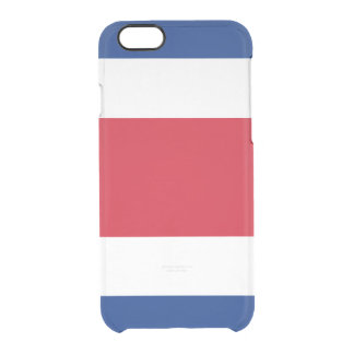 Flag of Costa Rica Clear iPhone Case