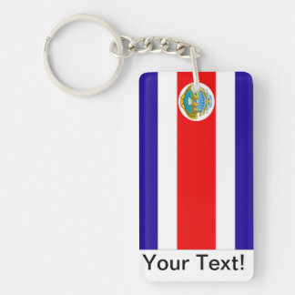 Flag of Costa Rica Double-Sided Rectangular Acrylic Key Ring