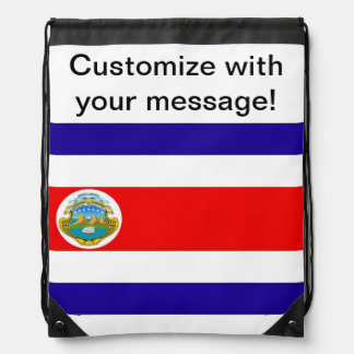 Flag of Costa Rica Drawstring Bags