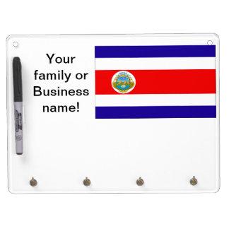 Flag of Costa Rica Dry Erase White Board