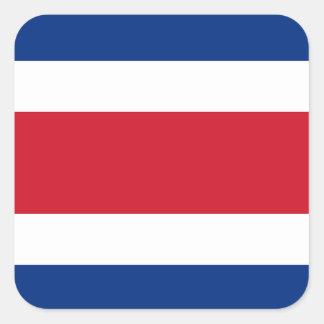 Flag of Costa Rica Label Square Sticker
