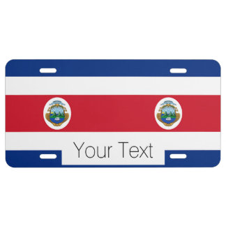 Flag of Costa Rica License Plate