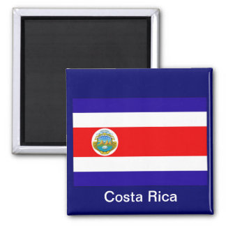 Flag of Costa Rica Square Magnet