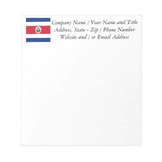 Flag of Costa Rica Memo Pads