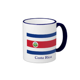 flag of Costa Rica Ringer Coffee Mug