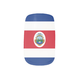 Flag of Costa Rica Nail Wrap