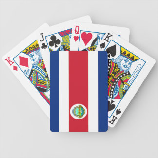 flag of Costa Rica Bicycle Poker Cards