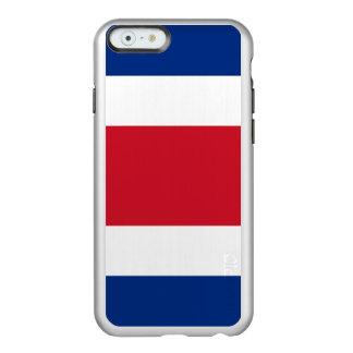 Flag of Costa Rica Silver iPhone Case Incipio Feather® Shine iPhone 6 Case