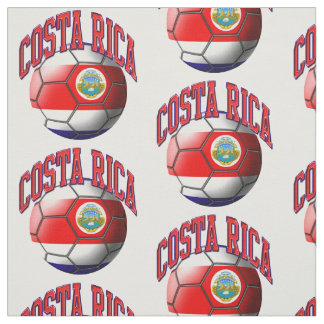 Flag of Costa Rica Soccer Ball Pattern Fabric