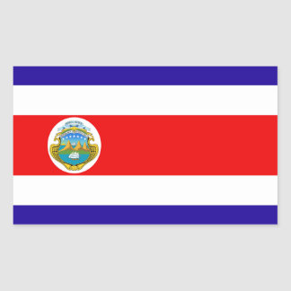 Flag of Costa Rica Rectangular Sticker