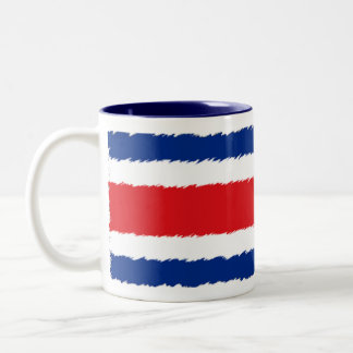 Flag of Costa Rica Two-Tone Coffee Mug