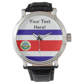 Flag of Costa Rica Wrist Watches
