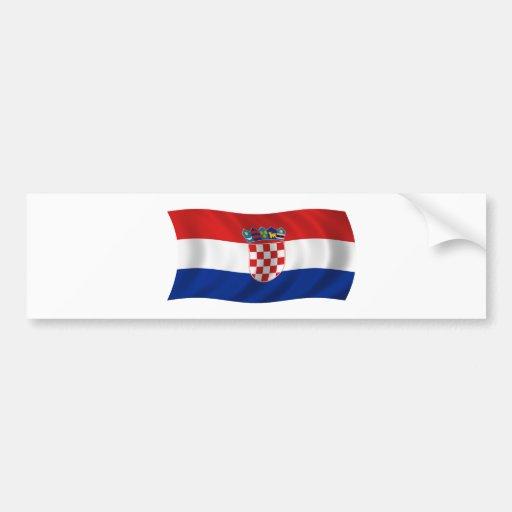 Flag of Croatia Bumper Stickers