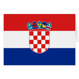 Flag of Croatia Card