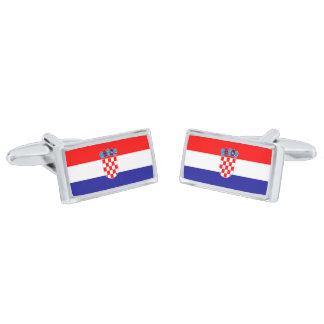 Flag of Croatia Cufflinks Silver Finish Cuff Links