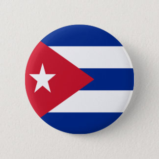 Flag of Cuba 6 Cm Round Badge