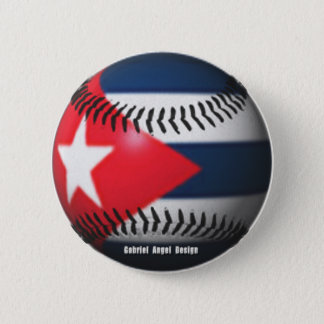 Flag of Cuba on a Baseball 6 Cm Round Badge