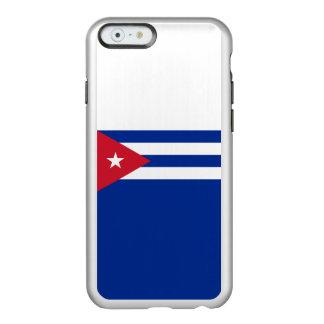 Flag of Cuba Silver iPhone Case