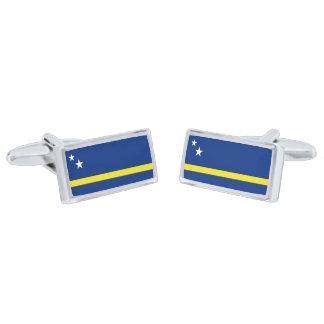 Flag of Curacao Cufflinks Silver Finish Cuff Links