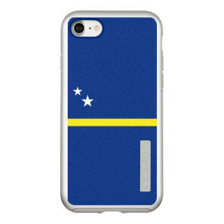Flag of Curacao Silver iPhone Case