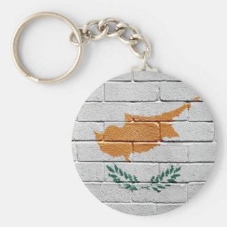 Flag of Cyprus Basic Round Button Key Ring