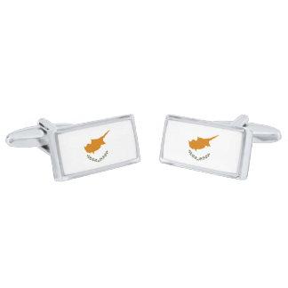 Flag of Cyprus Cufflinks Silver Finish Cufflinks