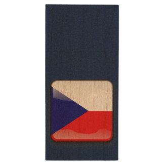 Flag_of_Czech_Republic Wood USB 3.0 Flash Drive