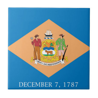 Flag Of Delaware Ceramic Tile