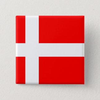 Flag of Denmark 15 Cm Square Badge