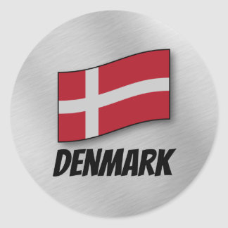 Flag of Denmark Classic Round Sticker