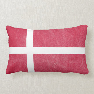 Flag of Denmark Grunge Lumbar Cushion