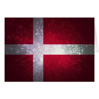 Flag of Denmark Note Card