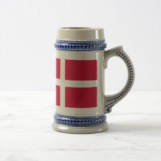 Flag of Denmark or Danish Cloth Beer Stein