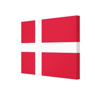 Flag of Denmark or Danish Cloth Canvas Print