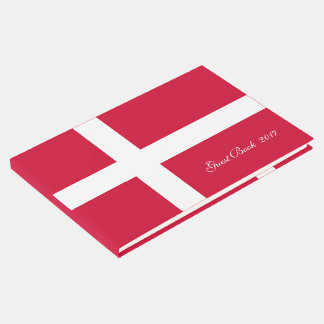 Flag of Denmark or Danish Cloth Guest Book
