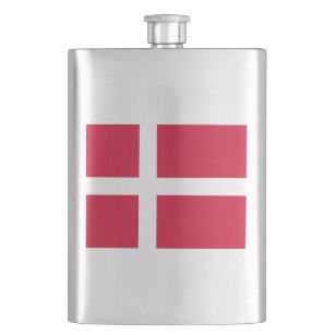 Flag of Denmark or Danish Cloth Hip Flask