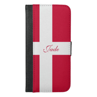 Flag of Denmark or Danish Cloth iPhone 6/6s Plus Wallet Case