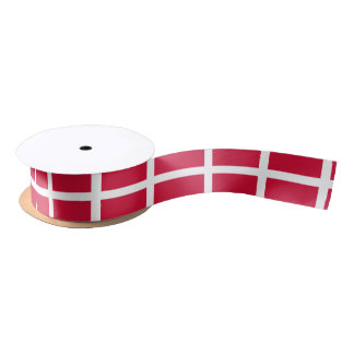 Flag of Denmark or Danish Cloth Satin Ribbon