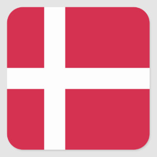 Flag of Denmark or Danish Cloth Square Sticker