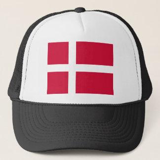 Flag of Denmark or Danish Cloth Trucker Hat
