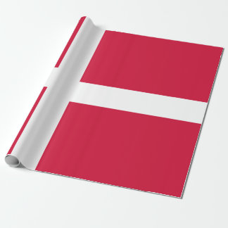 Flag of Denmark or Danish Cloth Wrapping Paper