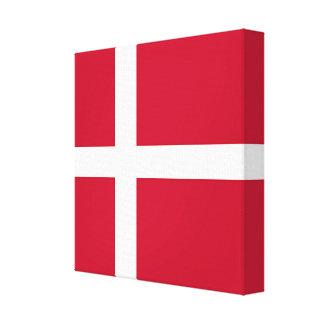 Flag of Denmark - Scandinavian cross Canvas Print