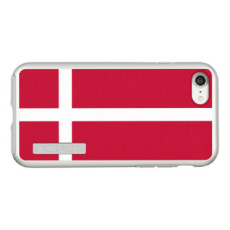 Flag of Denmark Silver iPhone Case