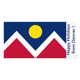 Flag of Denver, Happy Holidays from Denver, U.S.A. Photo Card