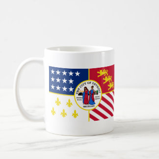 Flag of Detroit, Michigan Coffee Mug